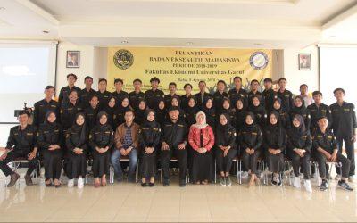 Pelantikan Pengurus Baru Badan Eksekutif Mahasiswa (BEM) Fakultas Ekonomi Universitas Garut